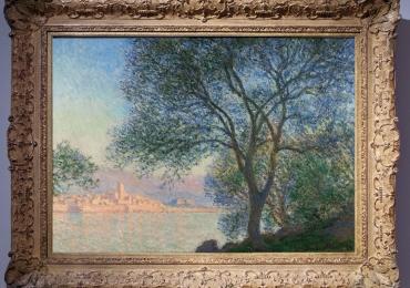 Monet Antibes vista dal giardino dei salici tablou peisaj de vara, Tablou cu lac, tablou cu salcii, Reproduceri pictori celebri