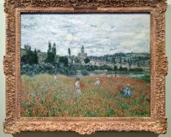 Monet Campo con papaveri vicino a Vetheuil tablou peisaj de vara, Reproduceri pictori celebri