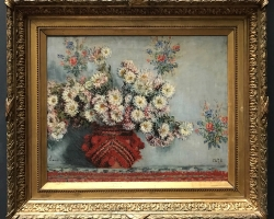 Monet, Chrysanthèmes 1878, Tablouri cu flori Realizate la Comanda, Reproduceri Picturi Celeb