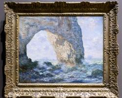 Monet Etretat il Manneporte tablou peisaj de vara, tablou peisaj marin, Reproduceri pictori celebri