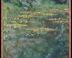 Monet Il laghetto delle ninfee, Tablou cu tema abstracta, tablou inmpresionist, tablou sufragerie, tablou dimensiune mare, tablou cu flori