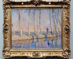 Monet Jean-Pierre Hoschedè e Michel Monet sul bordo dell'Epte, tablou peisaj de vara, Reproduceri pictori celebri