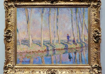 Monet Jean-Pierre Hoschedè e Michel Monet sul bordo dell'Epte, tablou peisaj de vara, Reproduceri pictori celebri