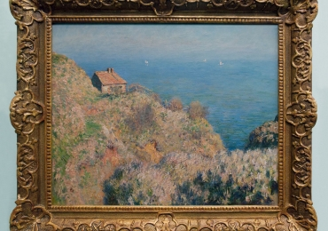 Monet La casa del pescatore a Varengeville tablou peisaj de vara, tablou peisaj marin, Reproduceri pictori celebri