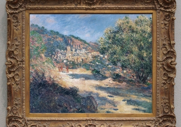 Monet La strada per Montecarlo, tablou cu peisaj din Montecarlo,  tablou peisaj de vara, Reproduceri pictori celebri