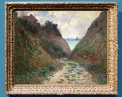 Monet Le Chemin du Petit Ailly a Varengeville,  tablou peisaj de vara, Reproduceri pictori celebri