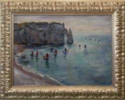 Monet, Poarta d'Aval, Peisaj marin, tablou peisaj de vara, Reproduceri pictori celebri