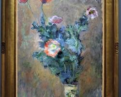 Monet Poppies in a chinese vase, Vas chinezesc cu maci, tablou cu fiori de camp, tablou cu flori de camp, tablou floral
