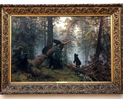 Morning in a Pine Wood. 1889 tablou pictat in ulei pe panza, pictor celebru. T