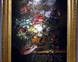 Natura moarta, tablou cu flori, pictura cu a flori de camp in vas de lut, Tablouri cu flori Realizate