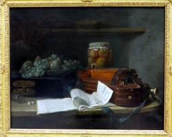 Nature morte à la vielle, vers 1760, Henri Horace Raland de la Porte, Tablouri cu stile life  Reali