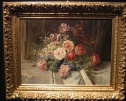 Nature morte di fiori, tablou cu flori de trandafiri, Buchet de flori, tablou cu flori in vaza, tablou floral