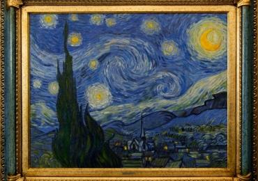 Noaptea instelata Vincent Van Gogh tablou peisaj de vara, Reproduceri pictori celebri