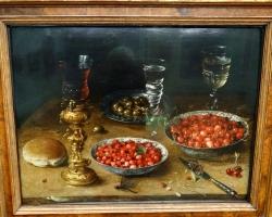 Osias Beert Still life with cherries and strawberries, Tablouri cu cirese Realizate la Comanda, Re