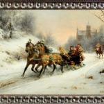 Otto Eerelman, A Royal Ride in the Snow with queen Emma, Tablou cu peisa