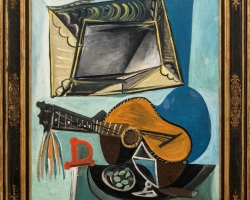 Pablo Picasso Still Life with Guitar, 1942, Tablouri cu chitara Realizate la Comanda, Reproduce