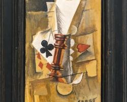 Pablo Picasso – The Letters, 1912, Tablouri cu carti de jocRealizate la Comanda, Reproduceri Pi