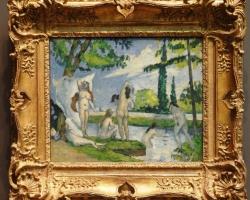 Paul Cézanne French, Bathers, tablou peisaj de vara cu femei la imbaiat, tablou cu femei nud, Tablouri Pictori Celebri, Reproduceri Celebre