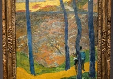 Paul Gauguin 1890 , tablou peisaj de vara, Tablouri Pictori Celebri, Reproduceri Picturi Celebre