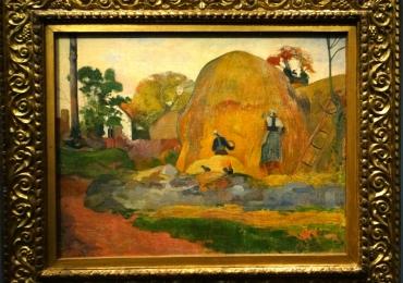 Paul Gauguin Les meules jaunes, tablou peisaj de vara, tablou peisaj rural, Tablouri Pictori Celebri, Reproduceri Picturi Celebre