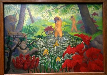 Paul Ranson, La Baignade, dit aussi, Lotus, 1906, tablou peisaj de vara, Tablouri Pictori Celebri, Reproduceri Picturi Celebre