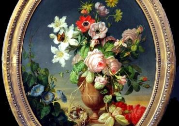 Paul Theodor van Brussel, Dutch, Still life, Buchet de flori, tablou cu flori in vaza, tablou floral