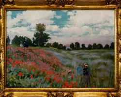 Peisaj cu camp de mac, Claude Monet tablou peisaj de vara, tablou peisaj cu camp de maci, Reproduceri pictori celebri