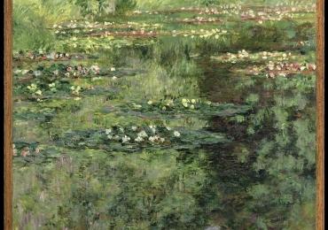 Peisaj cu lacLo stagno delle ninfee,Monet Tablou  abstract, tablou inmpresionist, tablou sufragerie, tablou dimensiune mare, tablou cu flori