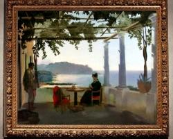 Peisaj de vara, pe veranda insula Ischia 1829, pictor Shchedrin Sylvester. Peis