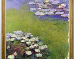 Peisaj lac cu fiori, tablou cu flori, tablou floral,  tablou cu nuferi, Claude Monet Water liliesTablou natura moarta, tablou natura statica,