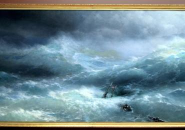 Peisaje pictate de Pictori Celebri The Wave, Ivan Aivazovsky, Reproduceri Tablouri celebre pictate manual in ulei