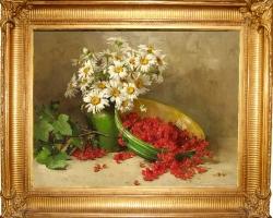 Pictura cu flori, tablou cu buchet de margarete, tablouri cu aranjamente florale, tablouri cu flori de camp, picturi florale