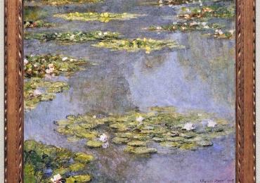 Pictura cu nuferi, tablou cu flori de apa, Pictor celebru Claude Monet Nymphèas, Tablou peisaj cu lac