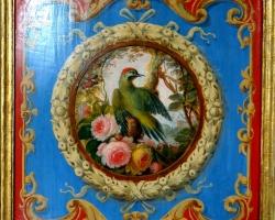 Pictura fresca Vatican, tablou cu reproducere celebra din vatican , tablou cu elemente decorative, tablou cu pasare si flori