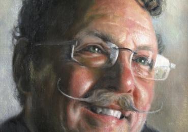 Pictura la comanda, pictura pe panza in ulei, Tablouri pictate personalizate, portret de barbat cu mustata