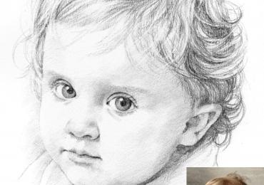 Picturi realizate la comanda speciala, Tablouri pictate personalizate, portret in creion, portret alb negru