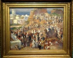 Pierre Auguste Renoir La Mosquee. Fete arabe, , Tablou cu peisaj de vara, tablou cu oameni