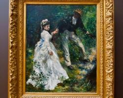 Pierre Auguste Renoir, La Promenade 1870, tablou peisaj de vara, tablou cu indragostiti, Tablouri Pictori Celebri, Reproduceri Celebre