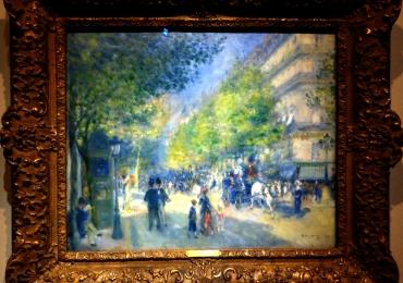 Pierre Auguste Renoir, The Grands Boulevards,tablou peisaj de vara, tablou urban cu aglomeratii urbane, tablouri Celebre