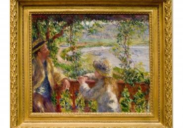 Pierre-Auguste Renoir  tablou peisaj de vara, Reproduceri pictori celebri