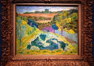 Pierre Bonnard Paysage a la maison violette,tablou peisaj de vara cu gradina de flori, Tablouri Pictori Celebri, Reproduceri  Celebre