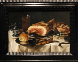 Pieter Claesz, Opstilling med skinke, Tablouri cu  natura moarta Realizate la Comanda, Reprodu