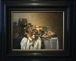 Pieter Claesz Still life with Roemer and Pie 1647, Tablouri cu placinta Realizate la Comanda, Re