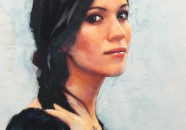 Portre de femeie, semiprofil. Portret la comanda dupa fotografia Dvs