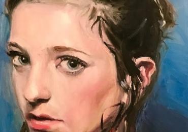 Portret adolescenta la comanda, cadou zi de nastere. Portret  Profil pictat manual