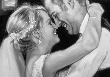 Portret alb negru, Cele mai reusite portrete la comanda, Tablouri pictate manual, Portret de nunta, portret de mireasa, portret de femeie, portret cuplu