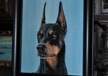 Portret animal de companie, portret caine, tablou cu animale salbatice, tablouri cu an