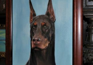 Portret animal de companie, portret de caine, tablou cu animale salbatice tablouri cu