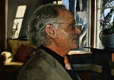 Portret cu bunici, portret cu batrani, portret cu parinti, portret pictat acuarela