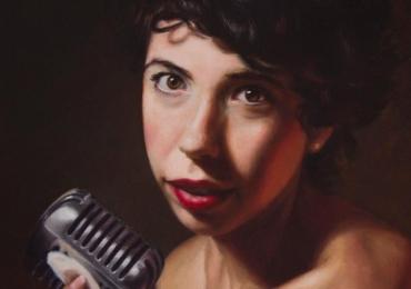 Portret cu cea mai buna prietena la Karaoke, Comenzi tablouri personalizate, portrete la comanda, Tablouri pictate personalizate, Portret de cantareata.